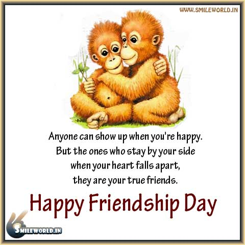 Your True Friends Happy Friendship Day English Quotes