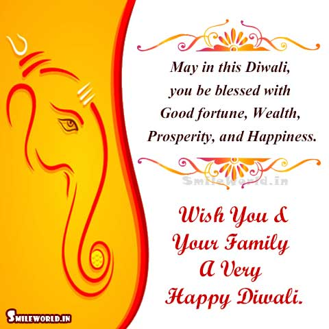 Deepawali Picture Message for Facebook Status