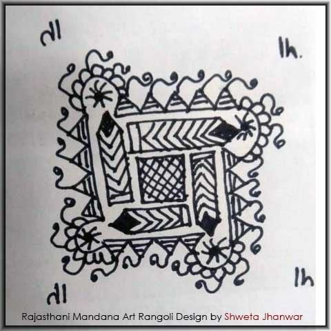 Easy Mandala Design by Shweta Jhanwar