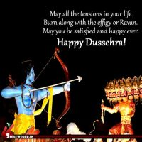 Happy Dussehra Picture Message Status