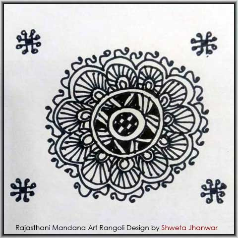 Mandana Design Images by Shweta Jhanwar
