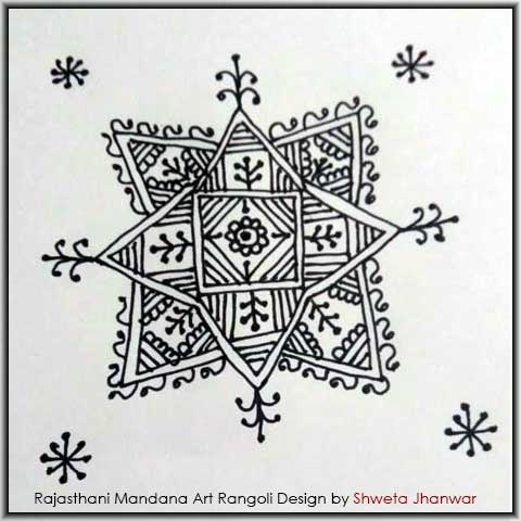Simple Mandala Design by Shweta Jhanwar