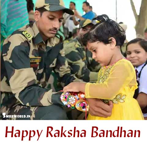 Happy Raksha Bandhan Wishes Images to Indian Army